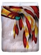 Tribal Duvet Cover by Cheryl Young