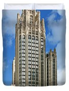 Tribune Tower - Beautiful Chicago Architecture Duvet Cover by Christine Till