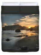 Trinidad Sunset Reflections Duvet Cover by Adam Jewell