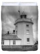 Trinity House Lighthouse Bw Duvet Cover by David French