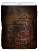 Triple Barrels Duvet Cover by Susan Candelario