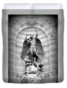 Triumphant Saint Michael Duvet Cover by Carol Groenen