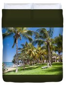 Tropical Beach I. Mauritius Duvet Cover by Jenny Rainbow