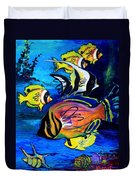 Tropical Fish Duvet Cover by Karon Melillo DeVega