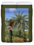Tropical Garden Duvet Cover by Kim Hojnacki