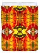 Tropical Leaf Pattern 2 Duvet Cover by Amy Vangsgard