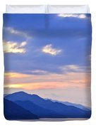 Tropical Mexican coast at sunset Duvet Cover by Elena Elisseeva