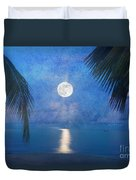 Tropical Moonglow Duvet Cover by Betty LaRue