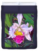 Tropical Orchid Duvet Cover by Jane Schnetlage
