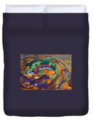 Trout And Fly Duvet Cover by Savlen Art
