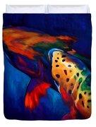 Trout Dreams Duvet Cover by Savlen Art