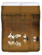 Trumpeter Ballet Duvet Cover by Mike  Dawson