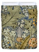 Tudor roses thistles and shamrock Duvet Cover by Voysey