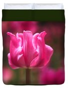 Tulip At Attention Duvet Cover by Rona Black
