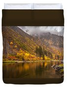 Tumwater Canyon Fall Serenity Duvet Cover by Mike Reid