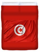 Tunisia Flag Duvet Cover by Les Cunliffe