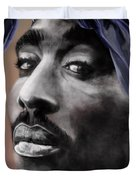 Tupac - The Tip Of The Iceberg Duvet Cover by Reggie Duffie