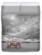 Turbo Tractor Superman Country Evening Skies Duvet Cover by James BO  Insogna