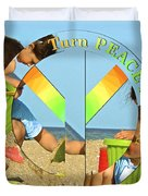 Turn Peace Around 2 Duvet Cover by Charlie and Norma Brock