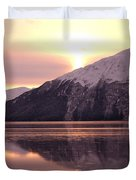 Turnagain Arm Morning Duvet Cover by Crystal Magee