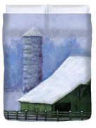 Turner Barn in Brentwood Duvet Cover by Janet King