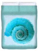 Turquoise Seashells IIi Duvet Cover by Lourry Legarde