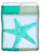 Turquoise Seashells Ix Duvet Cover by Lourry Legarde