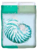 Turquoise Seashells XII Duvet Cover by Lourry Legarde