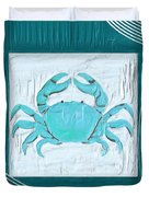 Turquoise Seashells Xix Duvet Cover by Lourry Legarde