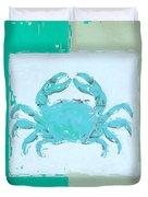 Turquoise Seashells Xv Duvet Cover by Lourry Legarde