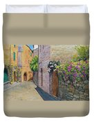 Tuscan Alley Duvet Cover by Marguerite Chadwick-Juner
