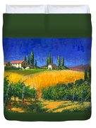Tuscan Evening Duvet Cover by Michael Swanson