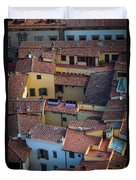 Tuscan Rooftops Duvet Cover by Inge Johnsson