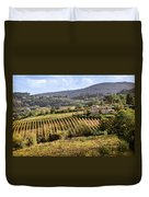 Tuscan Valley Duvet Cover by Dave Bowman