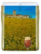 Tuscan View Duvet Cover by Pamela Allegretto