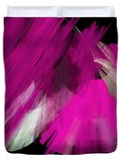 Tutu Stage Left Abstract Fuchsia Duvet Cover by Andee Design