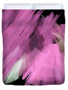 Tutu Stage Left Abstract Pink Duvet Cover by Andee Design