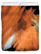 Tutu Stage Left Peach Abstract Duvet Cover by Andee Design