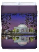 Twilight At The Thomas Jefferson Memorial  Duvet Cover by Susan Candelario