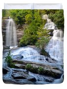 Twin Falls South Carolina Duvet Cover by Frozen in Time Fine Art Photography