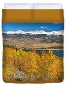 Twin Lakes Colorado Autumn Landscape Duvet Cover by James BO  Insogna