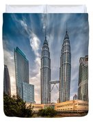 Twin Towers KL Duvet Cover by Adrian Evans