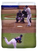 Twins Vs White Sox 2 Duvet Cover by Todd and candice Dailey