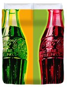 Two Coke Bottles Duvet Cover by Gary Grayson