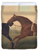 Two Hacks Duvet Cover by George Stubbs