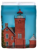 Two Harbors Lighthouse Duvet Cover by Paul Freidlund
