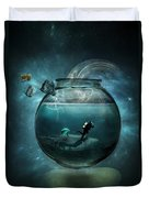 Two Lost Souls Duvet Cover by Erik Brede