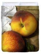Two Peaches Duvet Cover by Miriam Danar