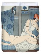 Tying The Legs Together Duvet Cover by Joseph Kuhn-Regnier