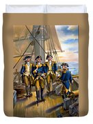 U S Navy Commander In Chief Of The Fleet Duvet Cover by The Werner Company